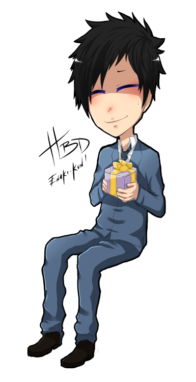 thepsychoticsugarking:  EARLY BIRTHDAY PRESENT FOR ENAKI-KUN!!!! SO HAPPY BIRTHDAAAAAAAAAAY!!!! I'm really glad to have met you yo! I HOPE YOU STAY A LOLI 5EVER LOLOL— Anyway you're so nice and considerate, I love your art;; Also your obsession with Mikado too X'D. Hope your birthday tomorrow goes wonderfully well and that you get lots of things that ya' deserve!!! AND I WANTED TO DRAW YA' A GIFT SO HA new chibi style X'D With badass love -KAI  ASDFGHJKL P-PRINCE! TT7TT 9KAI! Oh thanks so much! You're totally awesome, bro!//saves 5ever
