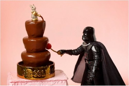 Even Sith Lords can't say no to a chocolate fountain…