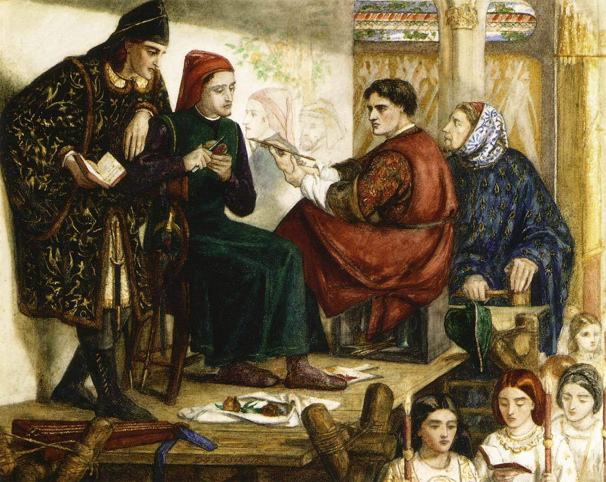 Giotto Painting the Portrait of DanteDante Gabriel Rossetti1852