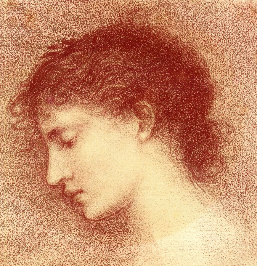Head study of Maria Zambaco for The Wine of CirceEdward Burne-Jones