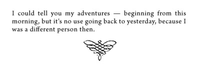 bookmania:  from Alice's Adventures in Wonderland by Lewis Carroll
