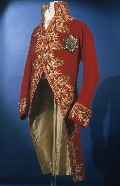 Man's civil uniform from Italy made of woll circa 1806. Royal Ontario Museum. Accession Number: 908.7.9ROM2006_8098_1
