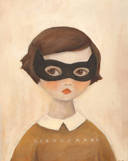 fetchingshadows:  (via Mysterious Girls from The Black Apple Kitten by theblackapple)