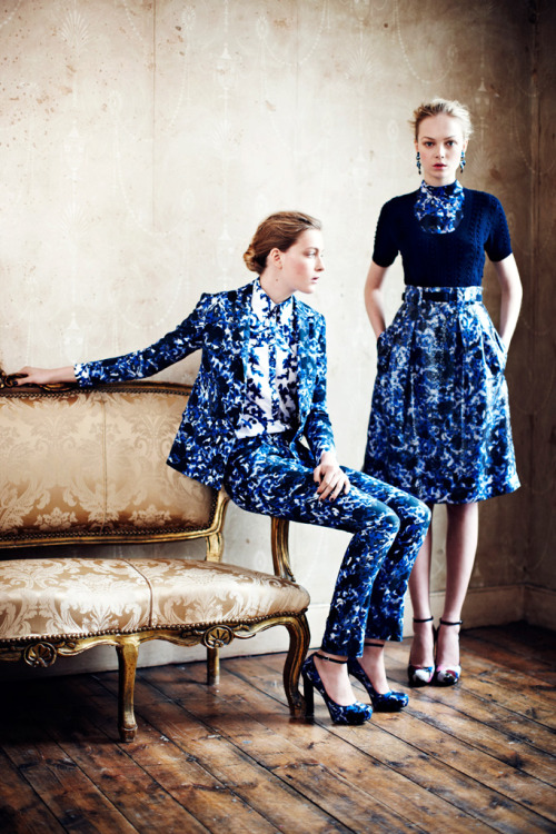 vogueweekend:  Ophelie Rupp and Siri Tollerød in Erdem Resort 2013