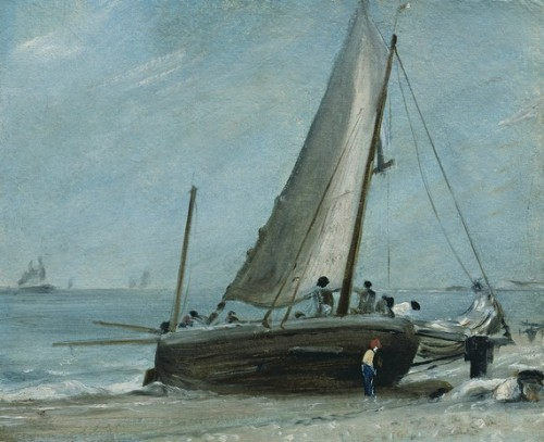 paintings-of-britain:  Brighton Beach with Fishing Boat and Crew  A place to be