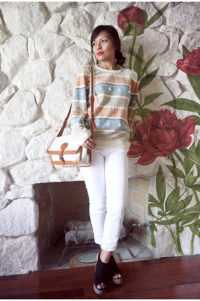 80's sweater with shoulder pads - via chictopia