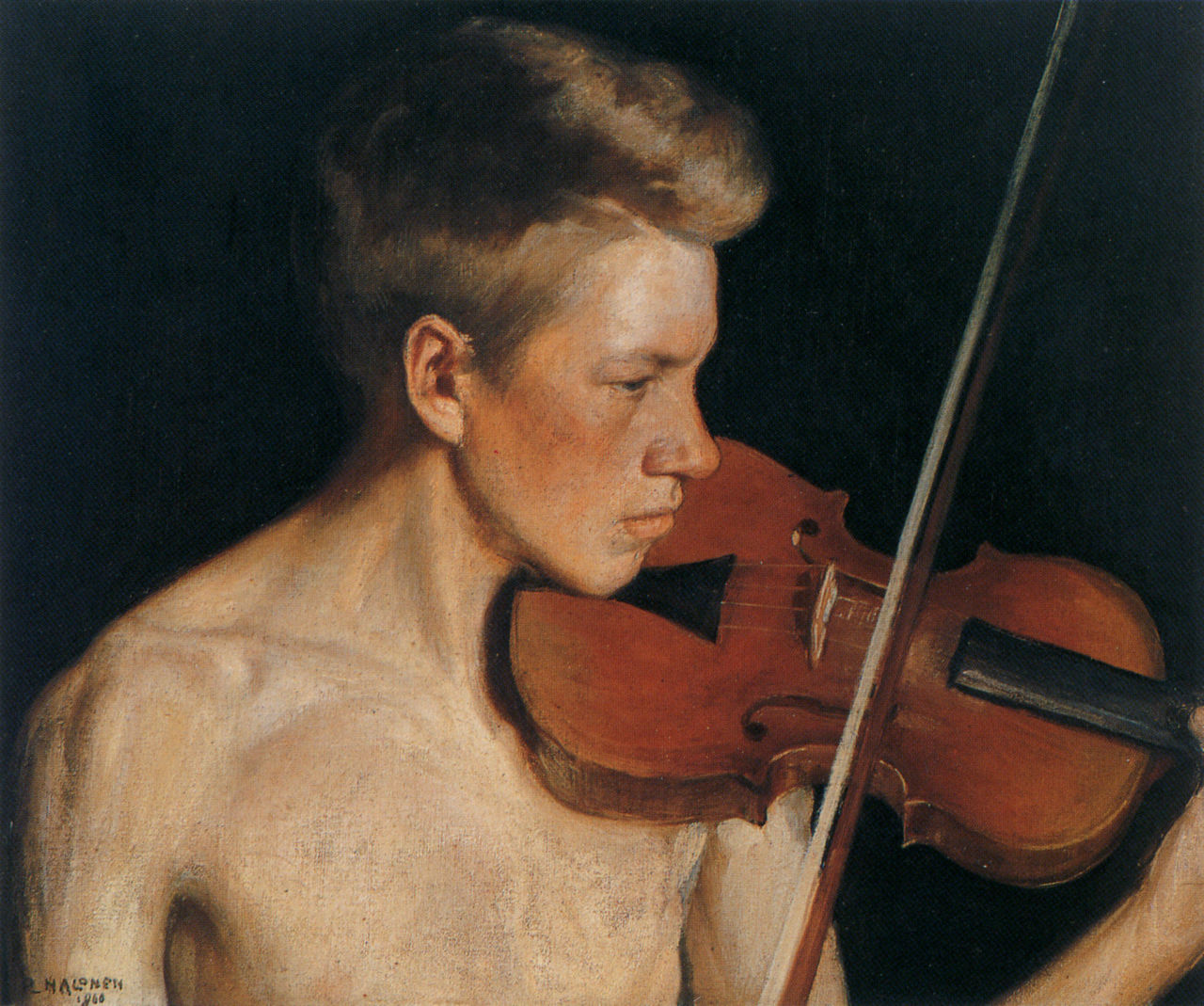 Pekka Halonen, the violonist, 1900