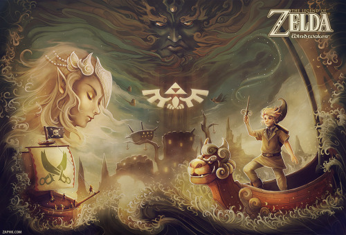 cheesepopsicle:  The Wind Waker | by Zaphk Zaphk.com | deviantART | Twitter