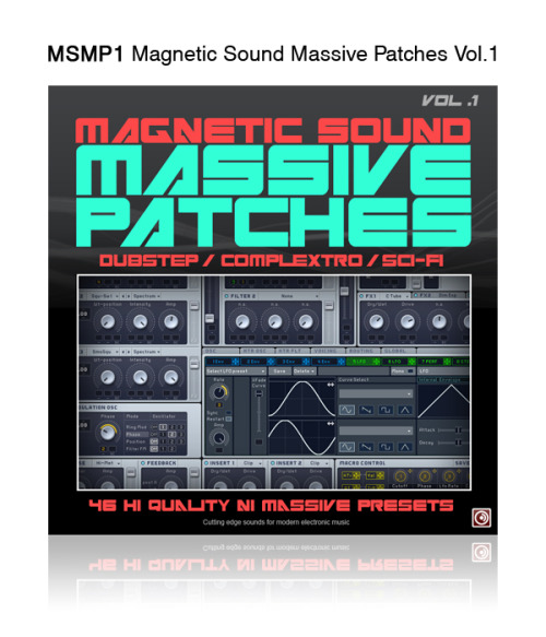 Magnetic Sound Massive Patches Vol. 1 From cinematic sounds to dancfloor smashing basses, this sound set for NI Massive is ideal for producing Dubstep, Complextro or any bassline oriented music. 46 NI Massive Patches: Alien Drones [12] Arpeggiators [5] Basses [20] Leads & Pads [5] Sequence [4] Also including: 47 One shot sounds exported from the patches (wav 16 bit 44.1khz). Buy now:  10.00$ (CAD) All patches engineered by: ZIMO