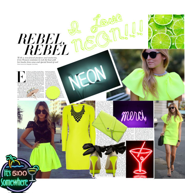 Neon !!! by ciresika featuring a chain wallet