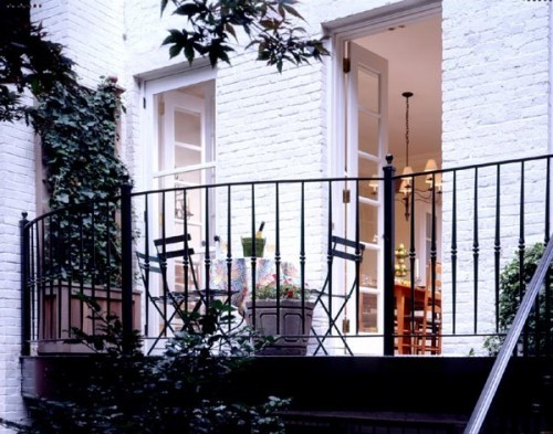 georgianadesign:  Greenwich Village townhouse patio. Gleicher Design Group.