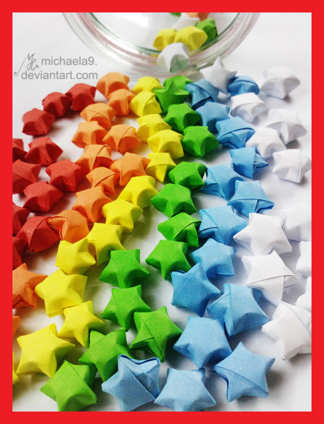 frozencrafts:  Colorful Lucky Stars by ~Michaela9