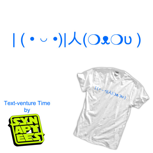 Text-venture Time by Aaron Fimister / synaptees Shirts, stickers, and iphone cases available at redbubble.  Artist: tumblr / website / facebook