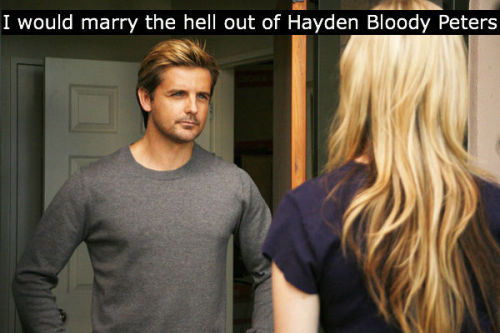 Thank you for the congratulations, anon. Hayden Bloody Peters is everyone's fave man I think… :)
