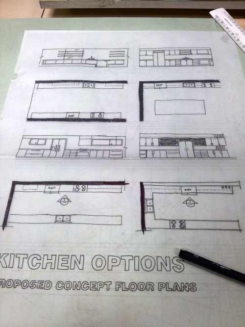 designed-for-life:  Kitchen Options. Proposed Concept Floor Plans.