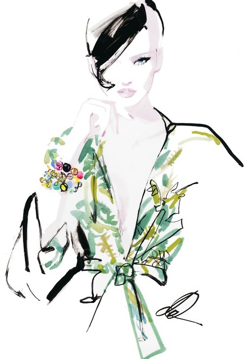 Sachin + Babi bracelets. Illustration by David Downton.