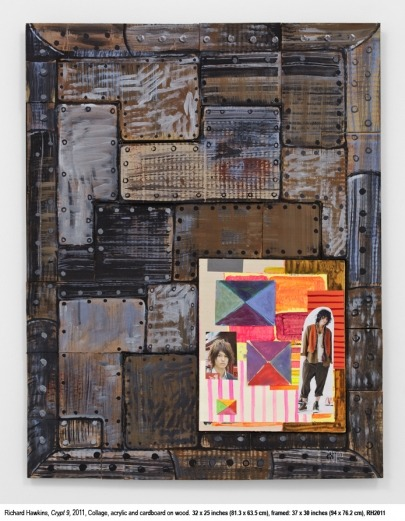 13 Crypts (#9)Richard Hawkins Collage, acrylic and cardboard on wood. 2012 32 inches x 25 inches x 1 inches