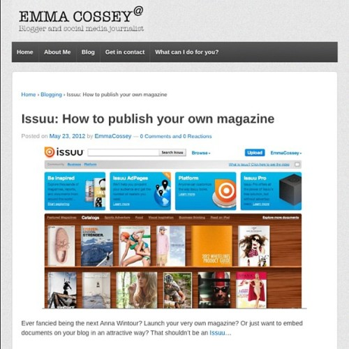 Blogging about starting your own magazine today…www.emmacossey.com (Taken with instagram)