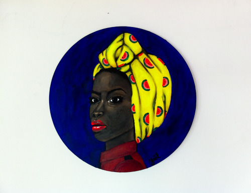 SUVI Acrylic on round canvas. 50 x 50