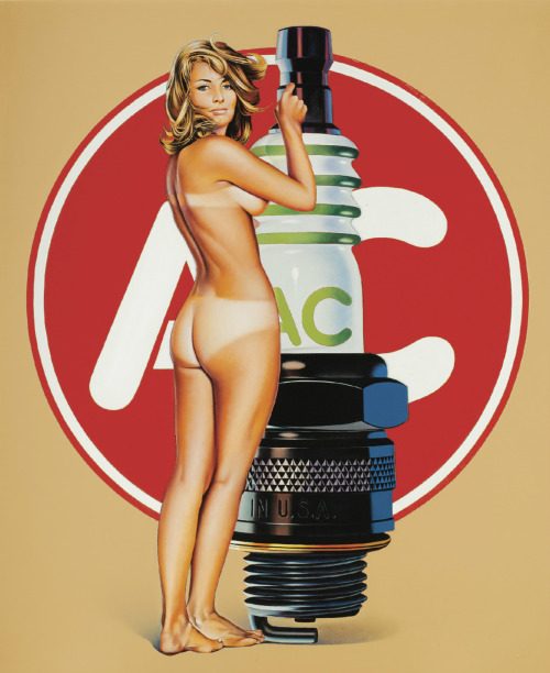 Mel Ramos: A.C. Annie, 1971. Oil on canvas. Sold: 1,071,650 GBP at Sotheby's The Gunter Sachs Collection Evening Auction, London, 22 May 2012.