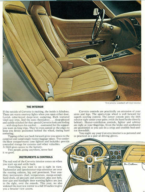 1974 Chevrolet Corvette Interior   by coconv on Flickr.1974 Chevrolet Corvette Interior