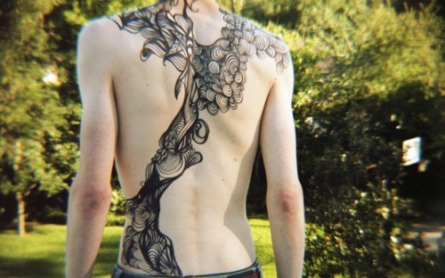 (: it's like someone put my scribbles onto their back