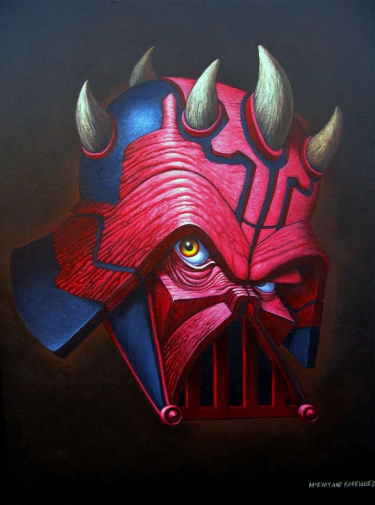 Star Wars hybrids paintings series by artist duo McEvoy and Rodriguez.