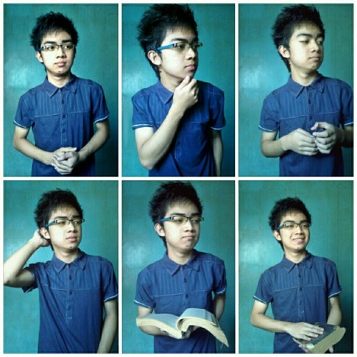 Nerdy Look of #me :) #instagood #igers #pinoy #me #handsome #instacommunity #fashion #glasses #swag #swagger  (Taken with instagram)