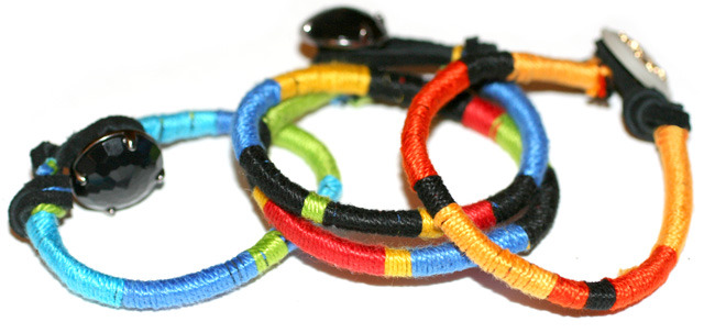 Color Wrap Bracelet | I Spy DIY I Spy DIY is one of my favourite DIY blogs and she has just released a DIY book - pick one up if you can! I love this DIY mainly because it's one of those crafts you can make in front of the TV! Plus colour blocking is still super trendy right now. Make them in lots of colours and stack them up!