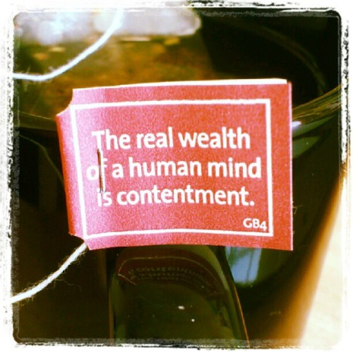the-absent-minded:  Tea wisdom #5 (Taken with instagram)