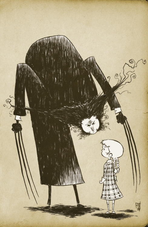fer1972:  Wolverin Cover (Edward Gorey Style) by Skottie Young