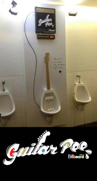 Guitar Pee - Interactive Urinals to Play Music