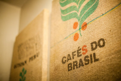 Framed 'Cafés do Brasil' Coffee Sack! (via REDCROWNED)