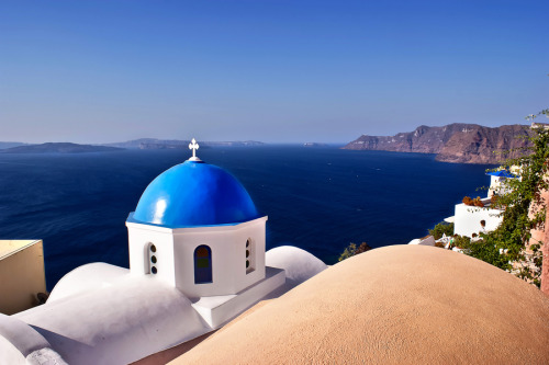 """Blue of Santorini Island"" by Renzo Re"