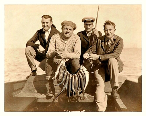 Babe Ruth Makes A Great Catch - c.1920'sIn this case it's a nice haul of fish that Babe and his fishing buddies have caught.
