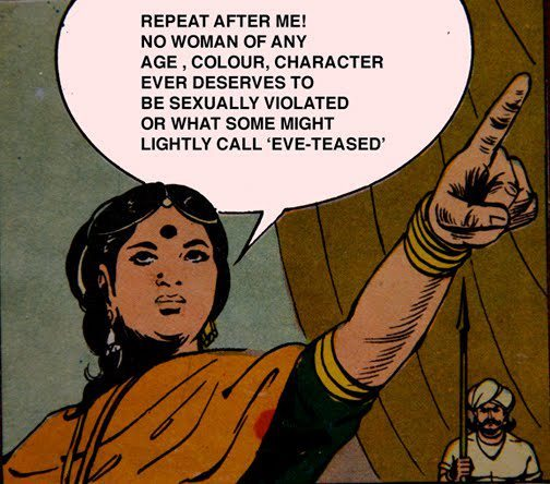 "fuckyeahsouthasia:  ""Repeat after me! no woman of any age, colour, character ever deserves to be sexually violated or what some might lightly call 'eve-teasing.'"" [follow this link to find a short clip and analysis of the discourse on street harassment in India:http://www.thesociologicalcinema.com/1/post/2012/05/decentering-and-recentering-the-discussion-on-street-harassment.html]"