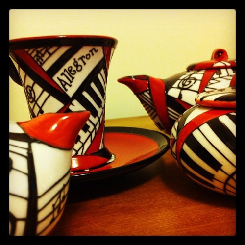 Tea and music. Always.  (Taken with instagram)
