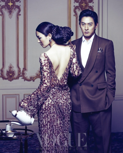 koreanmodel:  Joo Jin Mo and Kim So Yeon by Kim Jae Won in Vogue Korea March 2012