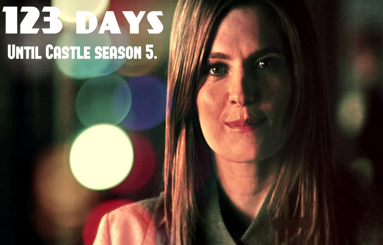 Hi!!:) Today we have 123 days until Castle Season 5!!!:) Have a good day!:) x