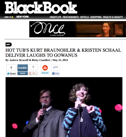 Check out this in-depth interview with Kurt and Kristen over at blackbookmag.com. Learn how the show has changed over the past seven years, and see why Kurt and Kristen are pros at crowd work.