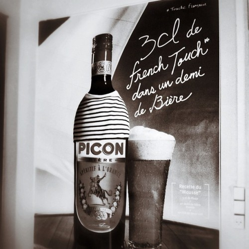 Picon 3cl de french Touch* dans un demi de bière  (Taken with instagram)