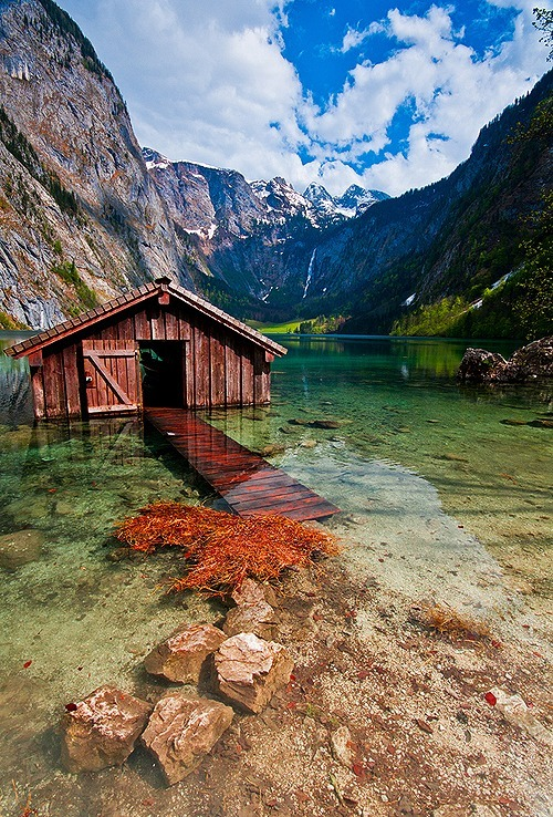 Boat House, Obersee, Germany photo via shudaily