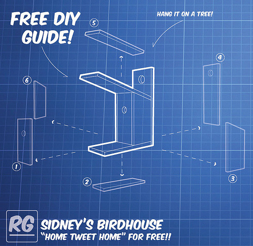 "The Sidney Pallet Birdhouse DIY Guide….for FREE!! A little birdy sat on the PAC chair outside my office today and chirped, ""I need a cool modern roost!"" I responded with, ""I have one at my house…it's not here, sorry"" in my best chickadee. Without responding he  flew away, hopefully to my house to claim the Merlin birdhouse. Seeing as though there might be hundreds if not billions of birds out there without proper modern digs, I figured it was my duty to give the guide to the masses for free!! (I have been meaning to do this for quite some time!) Build it and they will flock…or a squirrel will sit on top of it and chew on pecans. Go to our store for the download!! The Store!"