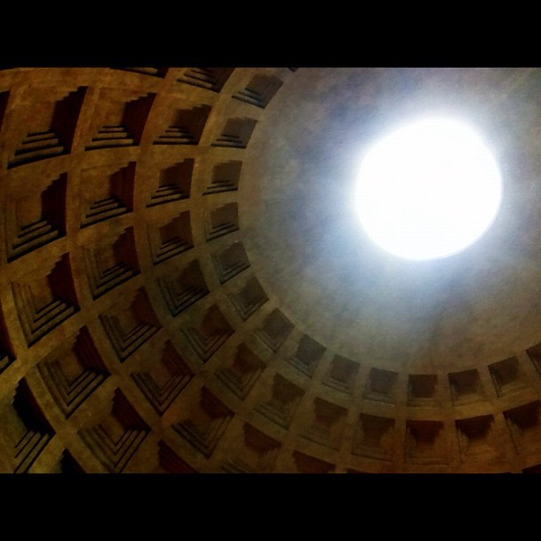 Light… Inside the Pantheon. #rome #italy #architecture  (Taken with Instagram at Pantheon)