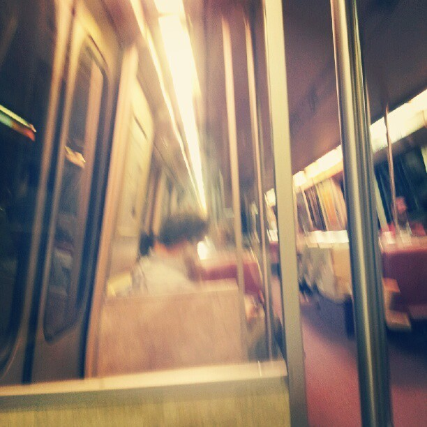 a shaky ride on the #DC  #metro #train #transportation #shaky #redline  (Taken with instagram)