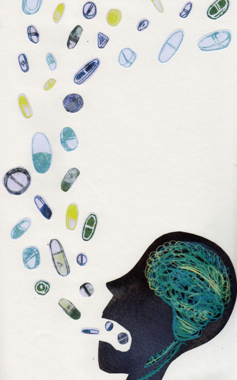eatsleepdraw:  Monoprint collage by Sarah