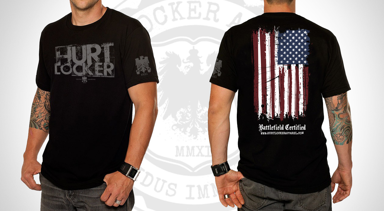 Hurt Locker: Tribute T's now accepting pre-orders. We are taking pre-orders on these shirts.  They will be our usual top notch quality shirt, more than capable of taking any kind of beat down you think you can give it.  Triblend material offered in both men & women's cuts.  If you are interested in snagging one, let me know and I can shoot you over a link to preorder one.