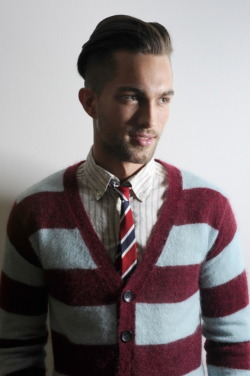 thetieguy:  this is a PERFECT mix of stripes, color and pattern! i love everything about this look!