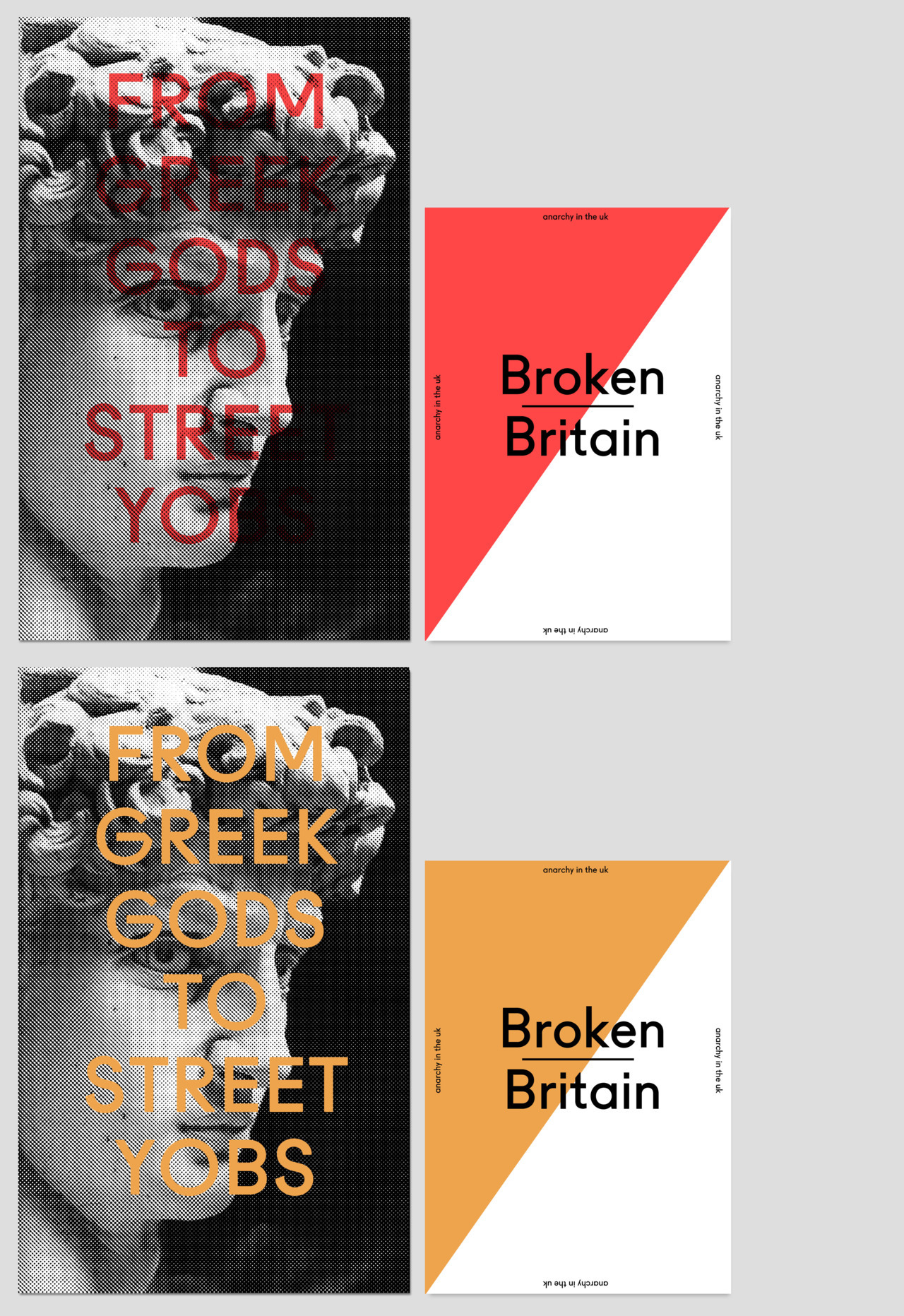 wecreatestudio:  Broken Britain - from greek gods to street yobs © Edition of 25 in each colour way we create studio | brad rose - do not remove credit — reblog for a chance to win a copy. must be following we create studio so i can tell who has reblogged from this page