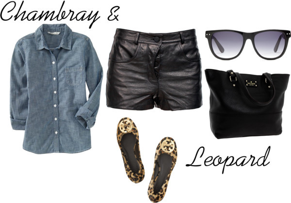 Chambray and Leopard by meljparrish featuring ballerina flats